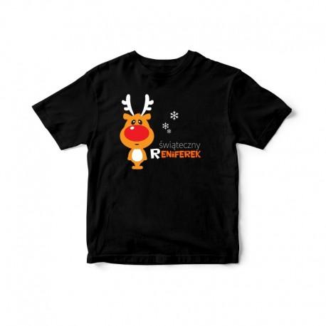 Dziecięca koszulka z nadrukiem Świąteczny reniferek