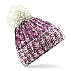 Czapka zimowa dzianinowa Twist-Knit z pomponem