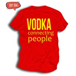 Śmieszna koszulka męska Vodka Connecting people