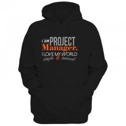 Męska bluza z kapturem I am Project Manager...