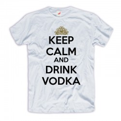 Śmieszne koszulki Keep Calm and Drink Vodka