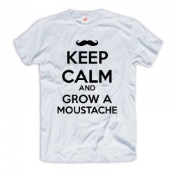 Śmieszne koszulki Keep Calm and Grow Moustache