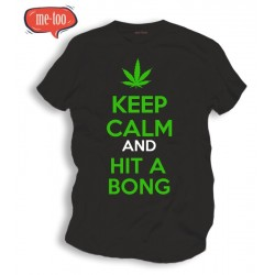 Koszulka t-shirt zioło Keep Calm and hit a bong