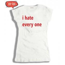 Koszulka Damska I hate every one