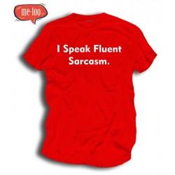 Śmieszne koszulki I speak fluently sarcasm