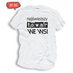 Męska koszulka: Najświeższy towar we wsi