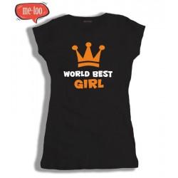 Damska koszulka z  nadrukiem: World Best Girl