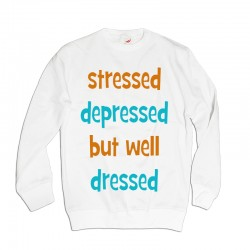 Bluza damska z nadrukiem Stressed depressed but well dressed