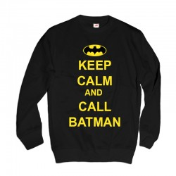 Bluza z nadrukiem Keep Calm and Call Batman