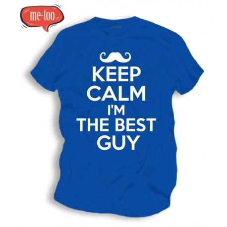 Koszulka męska z nadrukiem: Keep Calm I'm The Best Guy!