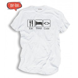 Koszulka informatyczna eat sleep code