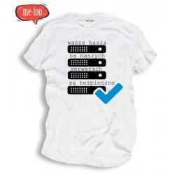 Koszulka informatyczna Wasze hasła na naszych serwerach są bezpieczne