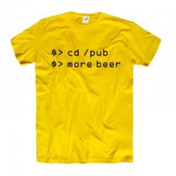 Śmieszne koszulki informatyczne cd /pub more beer