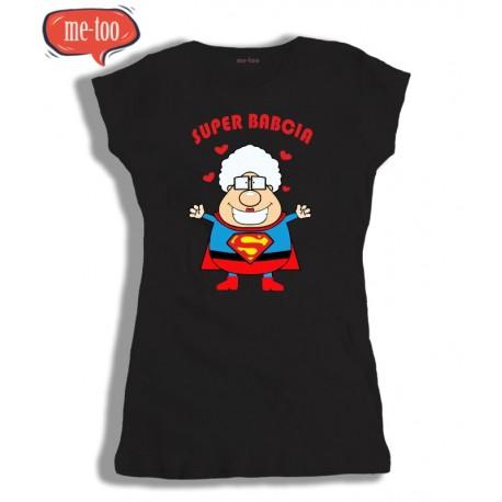 Koszulka z nadrukiem Super Babcia