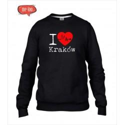 Bluza unisex z nadrukiem I love Kraków