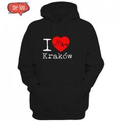 Bluza męska z nadrukiem I love Kraków