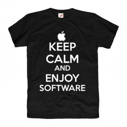 Koszulka T-shirt Keep Calm and enjoy software
