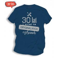 Męska koszulka z nadrukiem 30, 40.. lat i wciąż na oryginalnych częściach