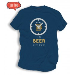 Śmieszna koszulka męska It's beer o'clock