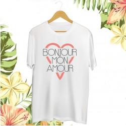 Koszulka unisex z nadrukiem Bonjour mon amour